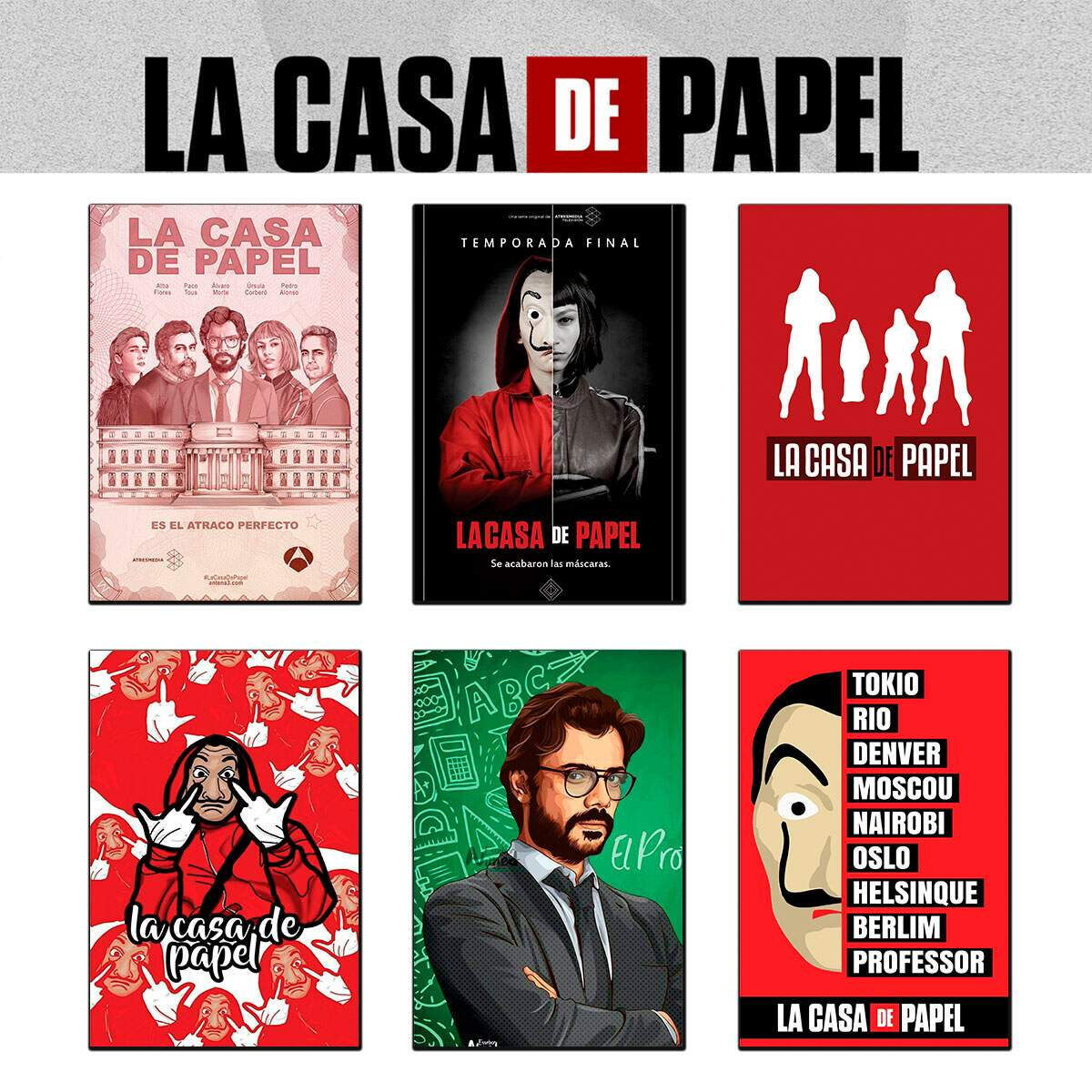 Placa Decorativa Séries La Casa de Papel