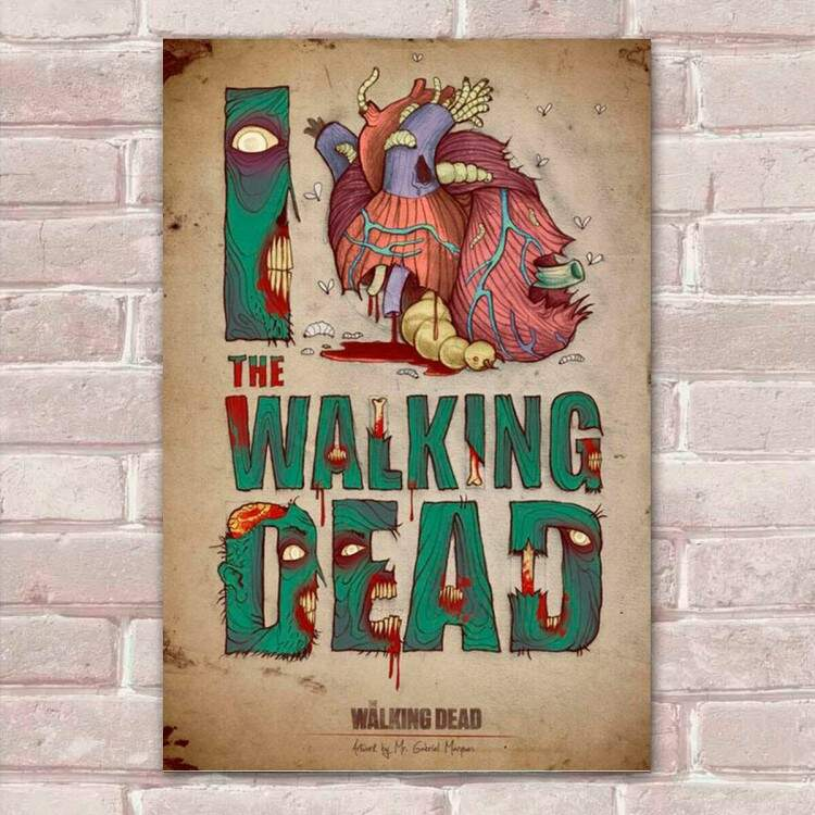 Placa Decorativa The Walking Dead 30
