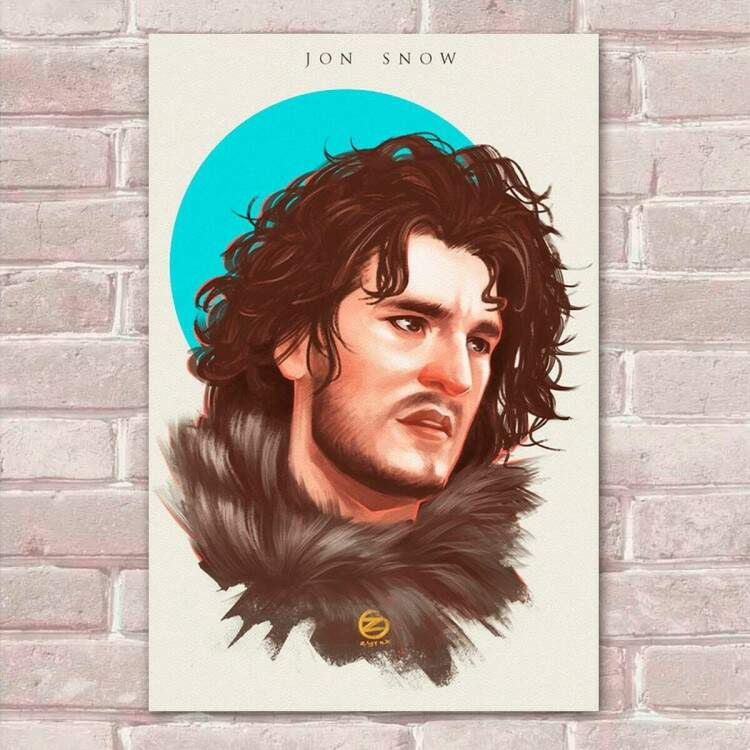 Placa decorativa Game Of Thrones 32 - Jon Snow