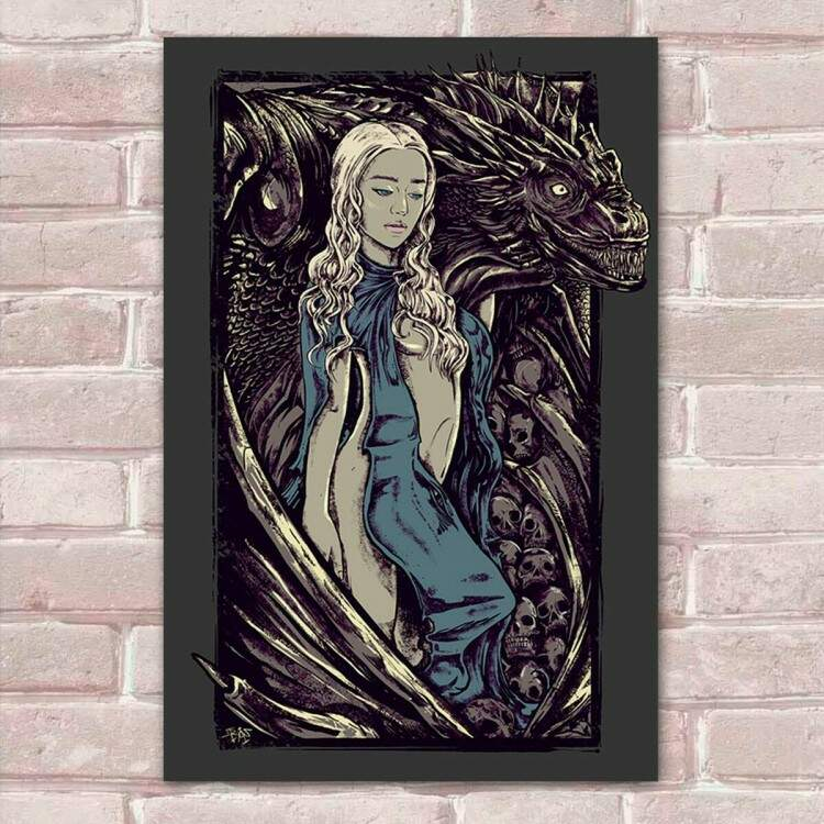 Placa decorativa Game Of Thrones 36 - Daenerys