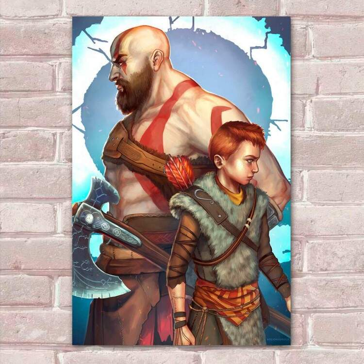 Placa Decorativa God of War 25