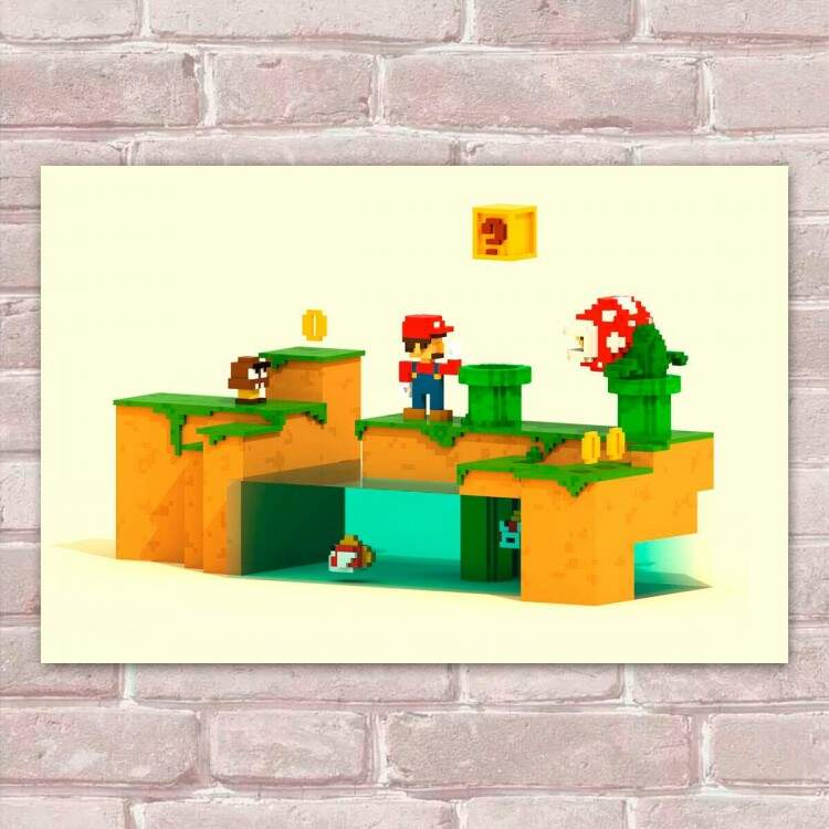 Placa Decorativa Super Mario 2