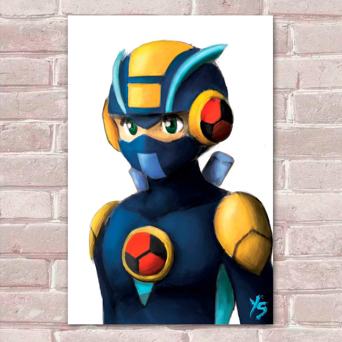 Placa Decorativa Games Mega Man 5
