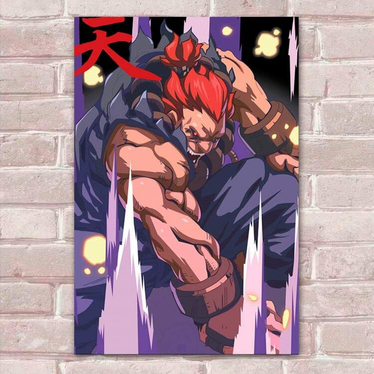 Placa Decorativa Street Fighter 46 Akuma