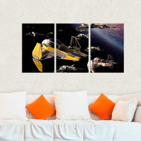 Kit 3 Placas Decorativas Star Wars 1
