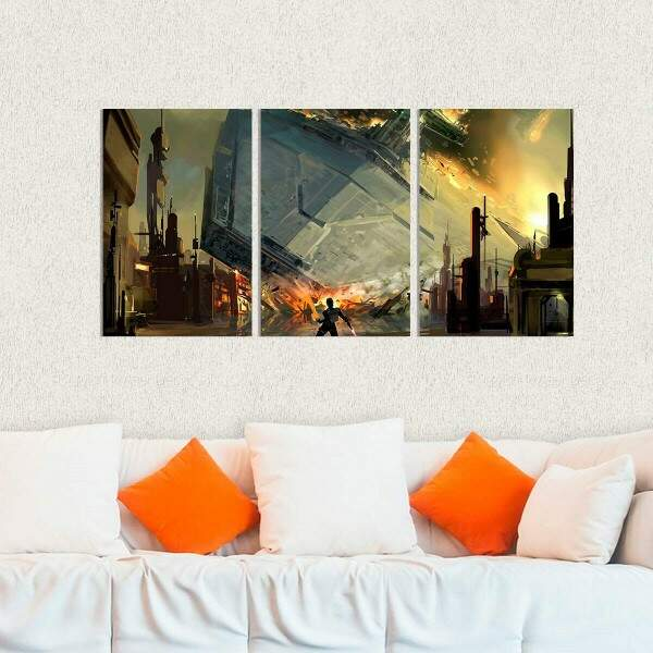 Kit 3 Placas Decorativas Star Wars 4