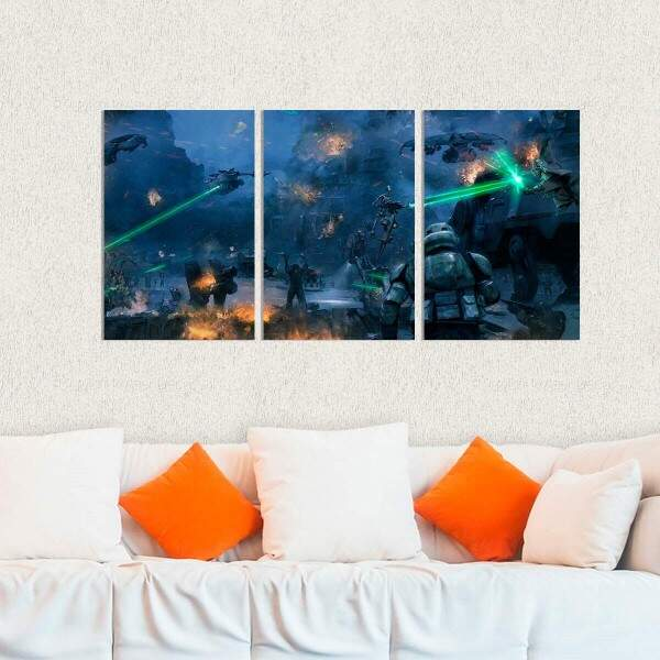 Kit 3 Placas Decorativas Star Wars 8