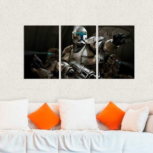 Kit 3 Placas Decorativas Star Wars 9