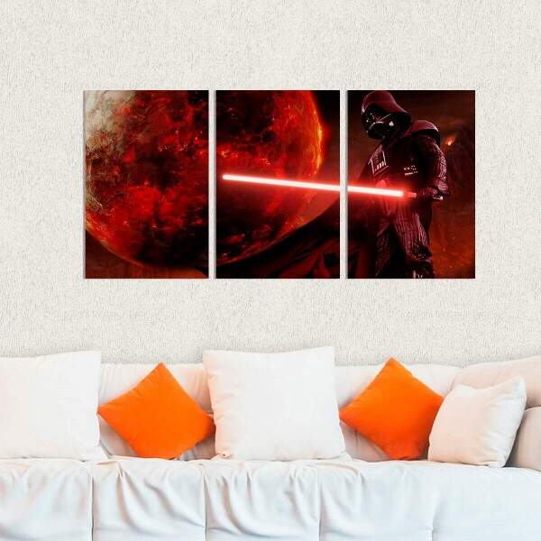 Kit 3 Placas Decorativas Star Wars 11 Darth Vader