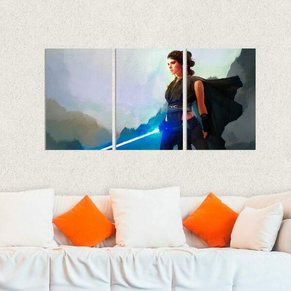 Kit 3 Placas Decorativas Star Wars Rey