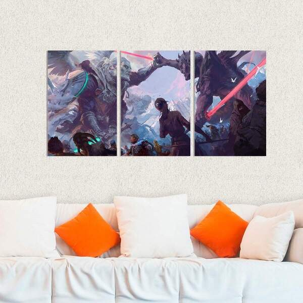 Kit 3 Placas Decorativas Star Wars 13