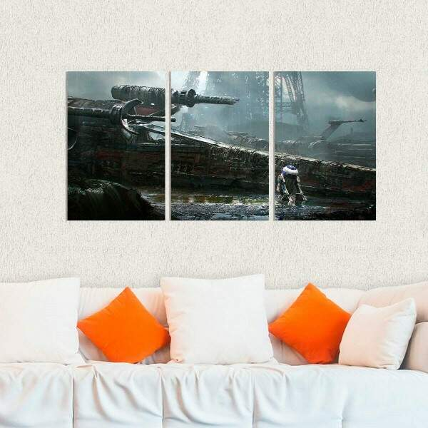 Kit 3 Placas Decorativas Star Wars 17