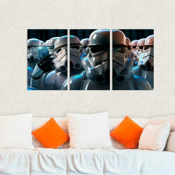Kit 3 Placas Decorativas Star Wars 19