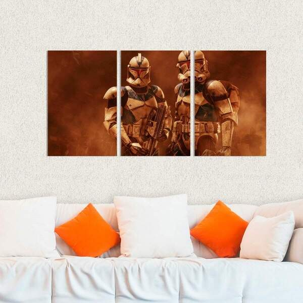 Kit 3 Placas Decorativas Star Wars 24