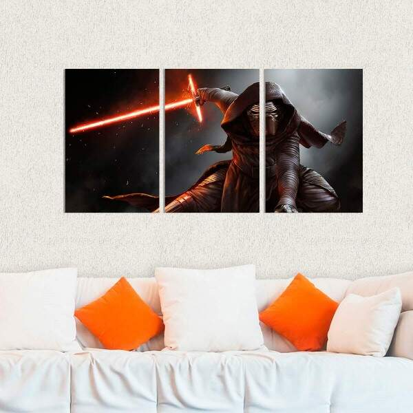 Kit 3 Placas Decorativas Star Wars 25