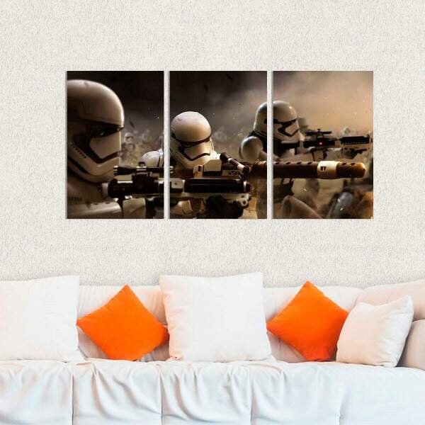 Kit 3 Placas Decorativas Star Wars 26