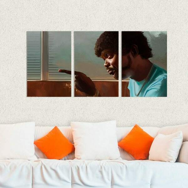 Kit 3 Placas Decorativas Pulp Fiction 3