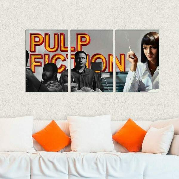 Kit 3 Placas Decorativas Pulp Fiction 5