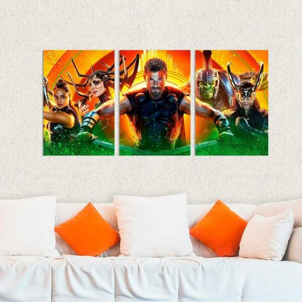 Kit 3 Placas Decorativas Thor Ragnarok 1