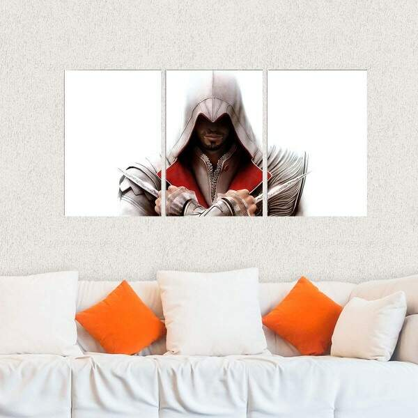 Kit 3 Placas Decorativas Assassins Creed 3