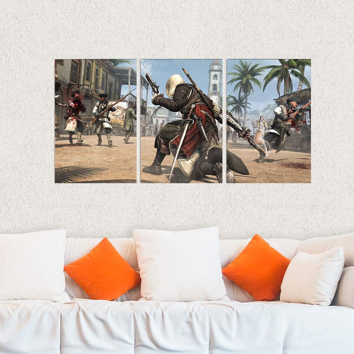 Kit 3 Placas Decorativas Assassins Creed 7