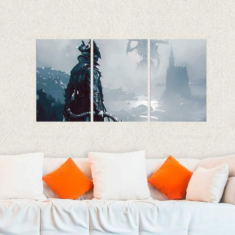 Kit 3 Placas Decorativas Bloodborne 2
