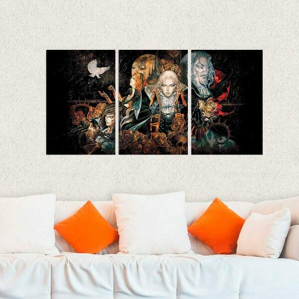Kit 3 Placas Decorativas Castlevania 6