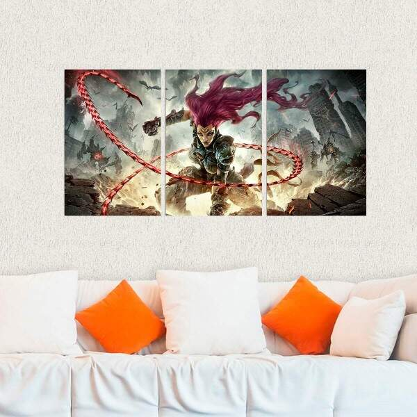 Kit 3 Placas Decorativas Darksiders 12