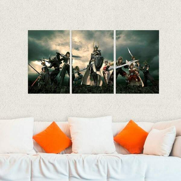 Kit 3 Placas Decorativas Final Fantasy 9