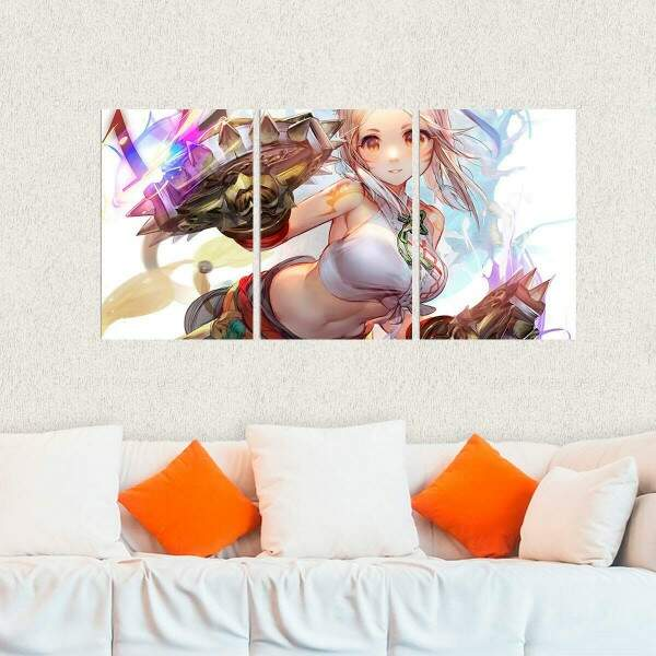 Kit 3 Placas Decorativas Final Fantasy 18