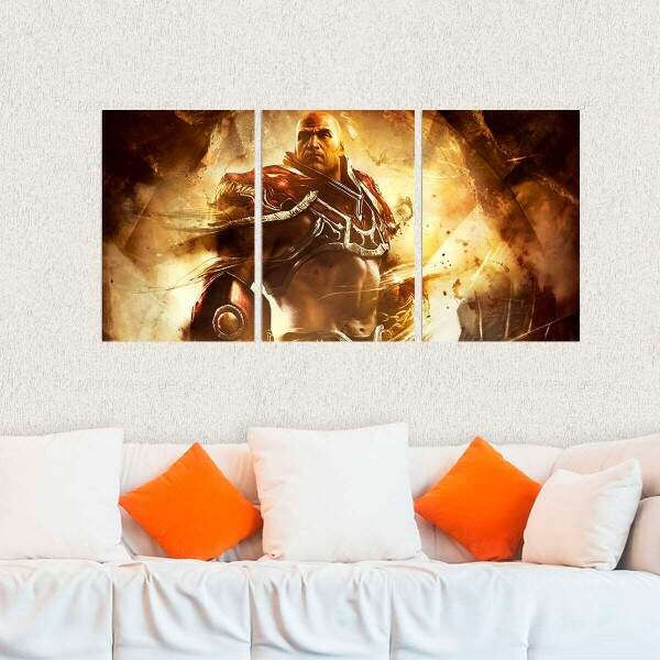 Kit 3 Placas Decorativas God of War 5
