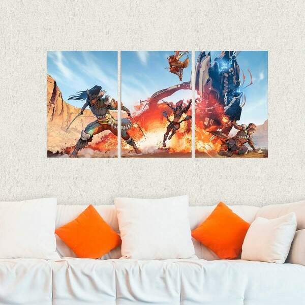 Kit 3 Placas Decorativas Horizon Zero Dawn 7