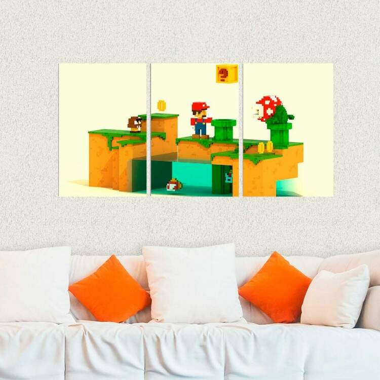 Kit 3 Placas Decorativas Super Mario 5