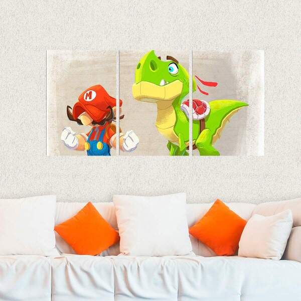 Kit 3 Placas Decorativas Super Mario 13