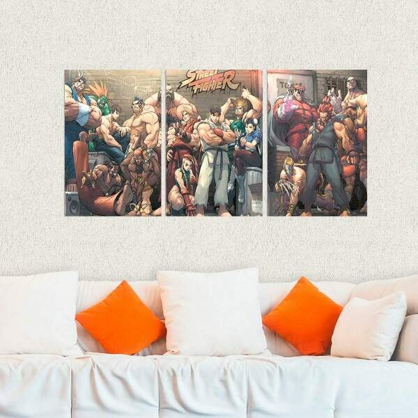 Kit 3 Placas Decorativas Street Fighter 12