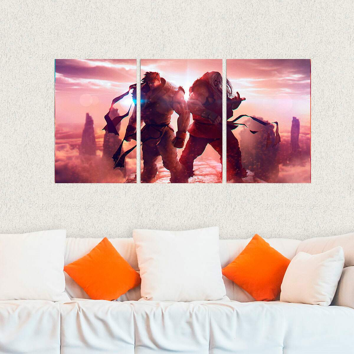 Kit 3 Placas Decorativas Street Fighter 15