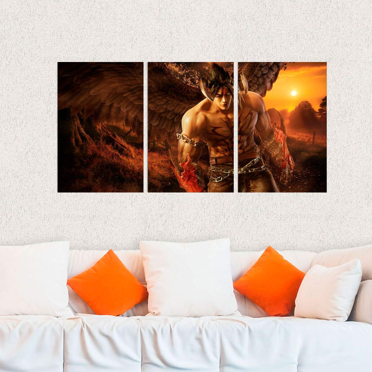 Kit 3 Placas Decorativas Tekken 7 Devil Jin