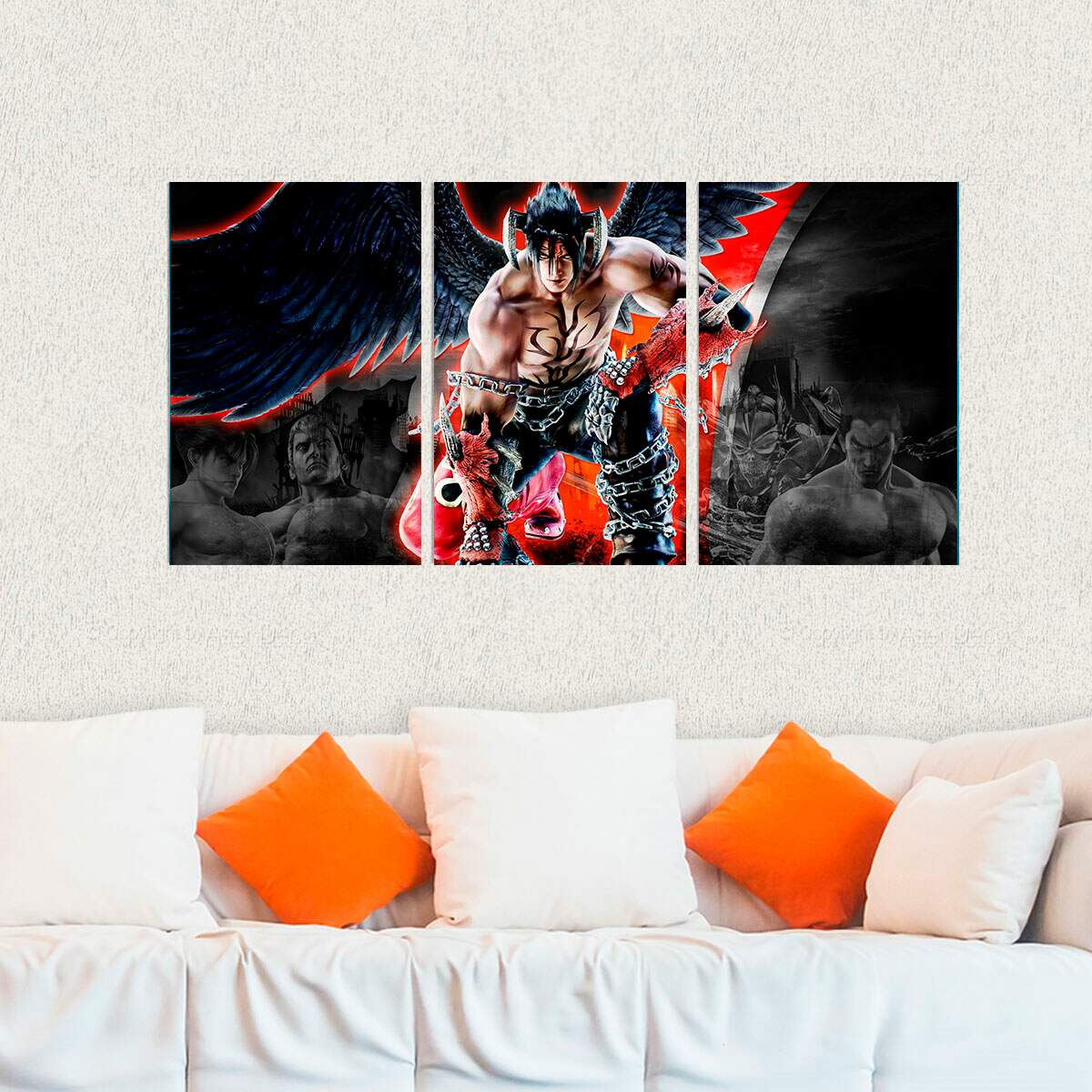 Kit 3 Placas Decorativas Tekken 10