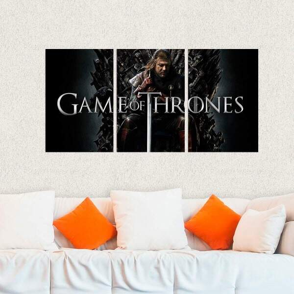 Kit 3 Placas Decorativas Game of Thrones 23