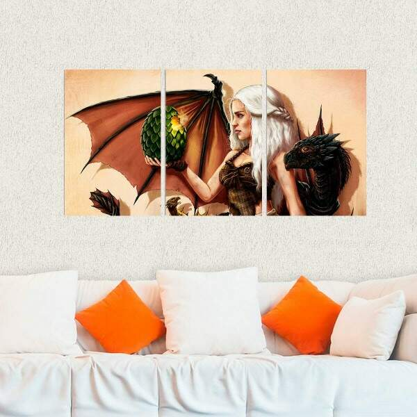 Kit 3 Placas Decorativas Game of Thrones 24