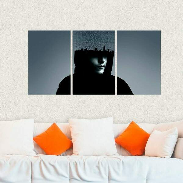 Kit 3 Placas Decorativas Mr Robot 8