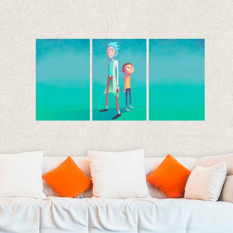 Kit 3 Placas Decorativas Rick and Morty 5