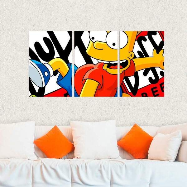 Kit 3 Placas Decorativas Os Simpsons 1