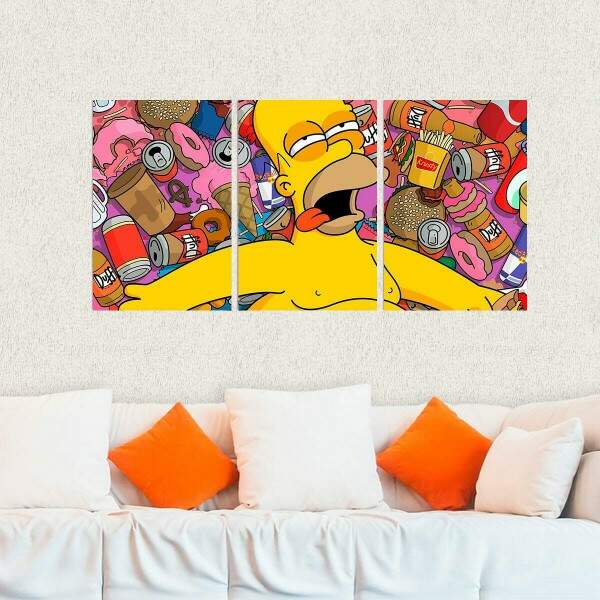 Kit 3 Placas Decorativas Os Simpsons 4