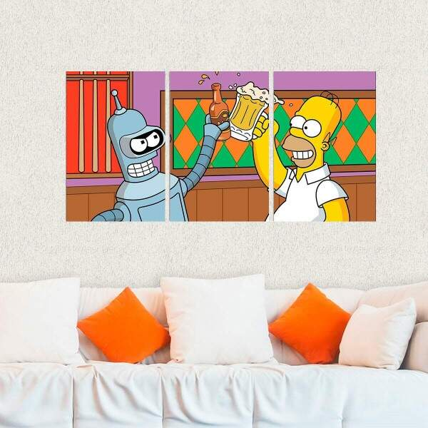 Kit 3 Placas Decorativas Os Simpsons 5