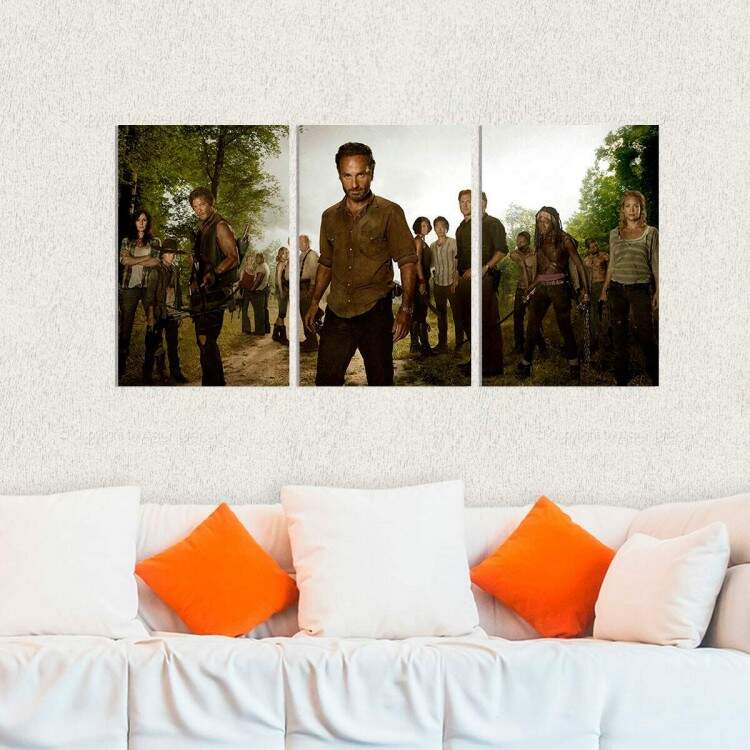 Kit 3 Placas Decorativas The Walking Dead 9