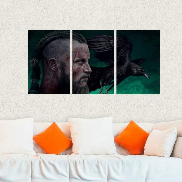 Kit 3 Placas Decorativas Vikings 15