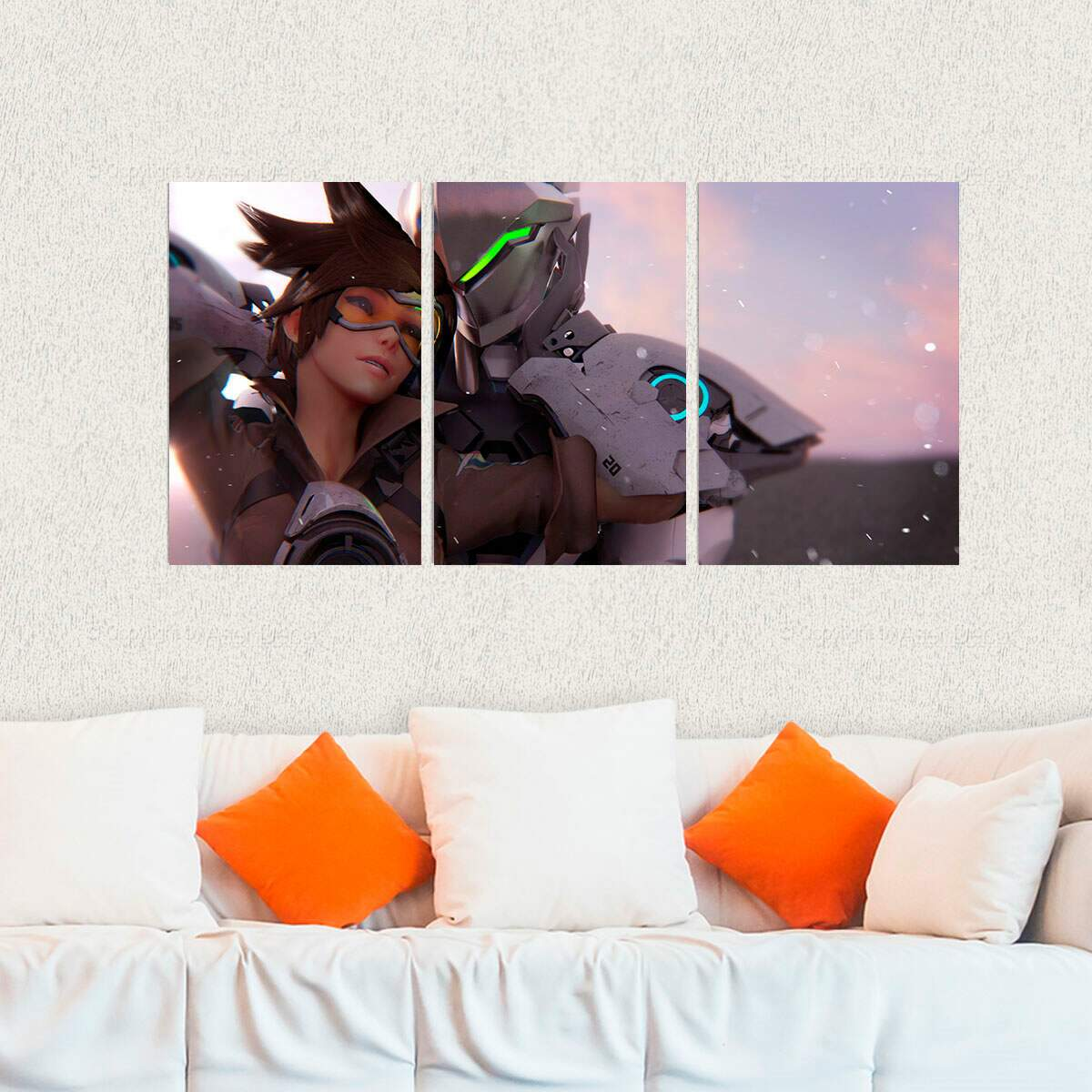 Kit 3 Placas Decorativas Games Overwatch 17