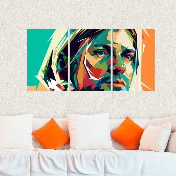 Kit 3 Placas Decorativas Kurt Cobain 1