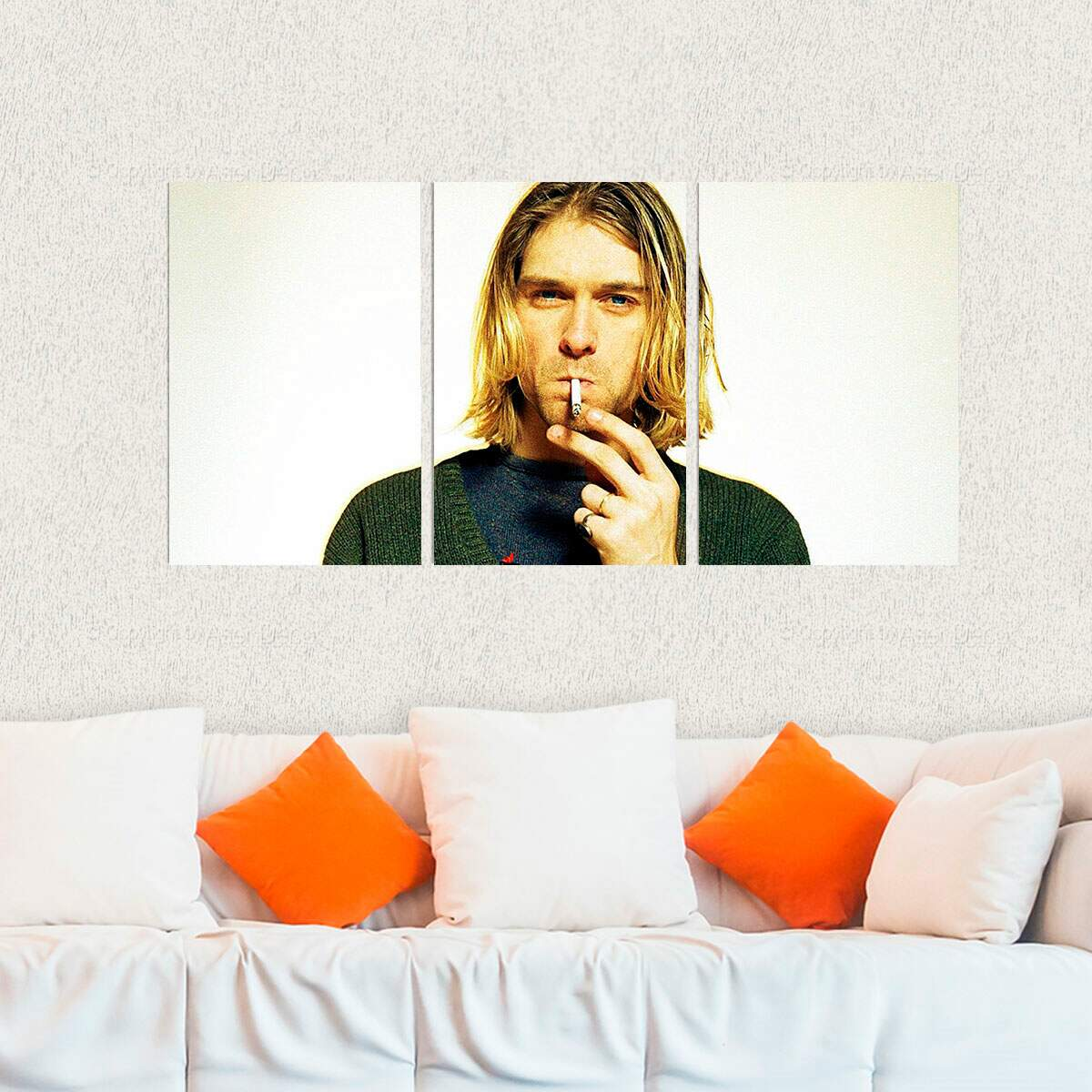 Kit 3 Placas Decorativas Kurt Cobain 3